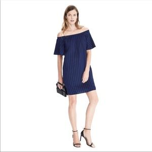 Banana Republic Striped Dress Navy/Royal Blue LP